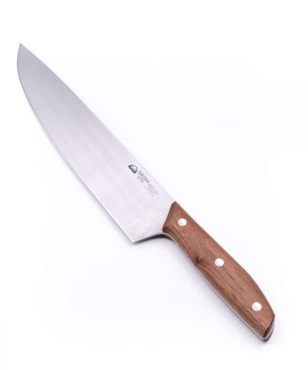 Due Cigni Walnut Chef's Knife 25cm-mycustomknives.com