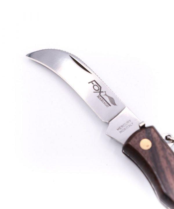 Fox Classic Mushroom Knife w/ Curved Blade Rosewood-custom-knives
