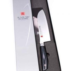 Kasumi VG-10 PRO Santoku 18cm-mycustomknives.com