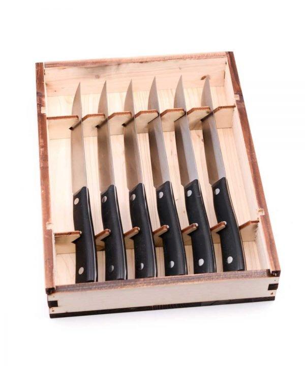 Maglio Nero Steak Knife Set 6pcs-custom-knives