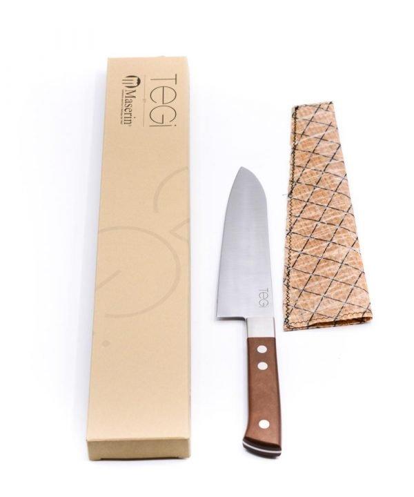 Maserin TEGI Santoku 17cm Marrone-coltellipersonalizzati.com