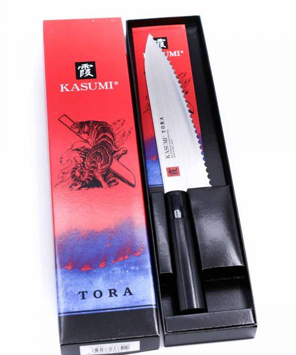 Kasumi TORA Trinciante Dentato 20cm-coltellipersonalizzati.com