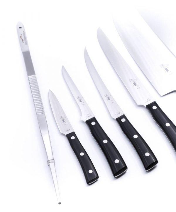 Maglio Nero Set Iside per Carne 7 Pezzi-coltellipersonalizzati.com