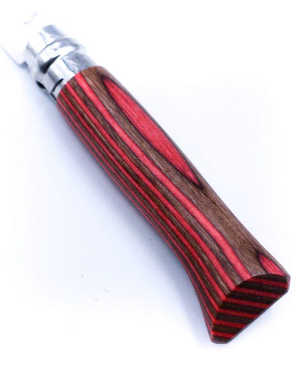 Opinel N°8 Laminato Betulla Rosso-coltellipersonalizzati.com