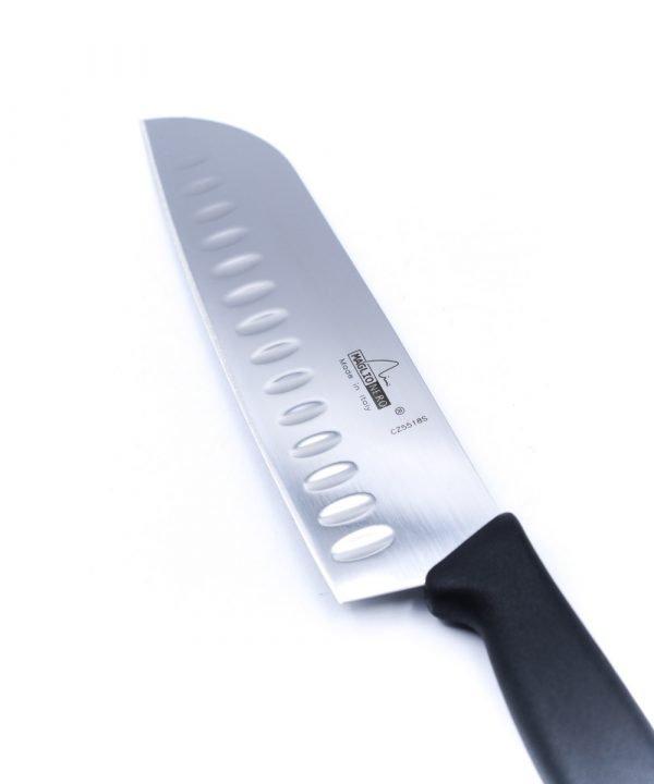 Maglio Nero Santoku Alveolato 18cm-coltellipersonalizzati.com