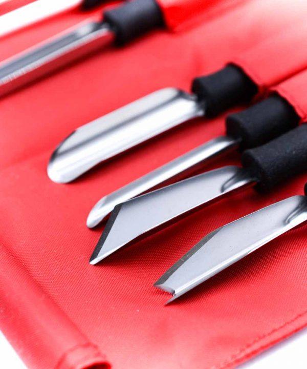 Triangle set da intaglio 8pz-coltellipersonalizzati.com