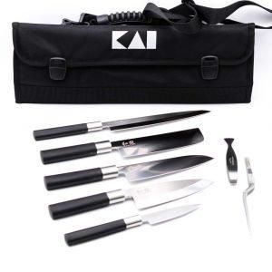 KAI Set Wasabi Black Giappone 8pz-coltellipersonalizzati.com