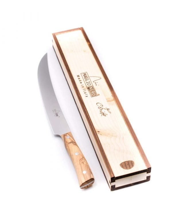 Maglio Nero Iside Scimitarra Americana 26cm Ulivo-coltellipersonalizzati.com