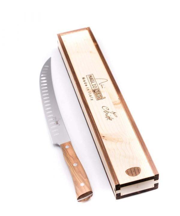 Maglio Nero Iside Scimitarra Americana Alveolata 26cm Ulivo-coltellipersonalizzati.com