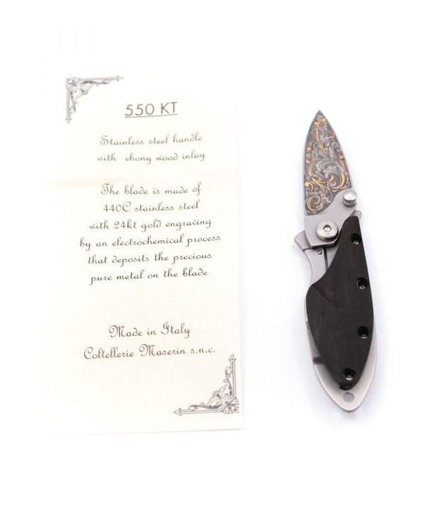 Maserin 550 KT Oro 24Kt-coltellipersonalizzati.com